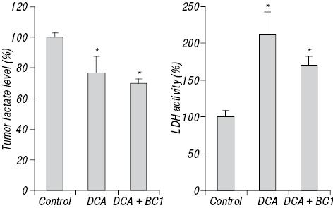 Aconitine containing agent enhances antitumor activity of dichloroacetate against Ehrlich carcinoma