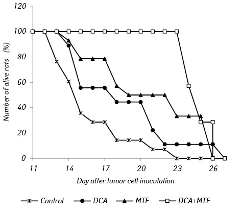 Metformin enhances antitumor action of sodium dichloroacetate against glioma C6