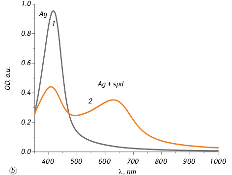 Application of gold and silver nanoparticles for selective assay of spermine in mixture with spermidine